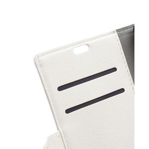 Grain koženkové pouzdro na Sony Xperia X - bílé - 7
