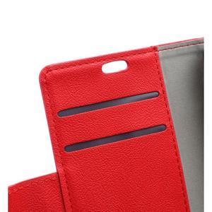 Grain koženkové puzdro pre Sony Xperia X - červené - 7