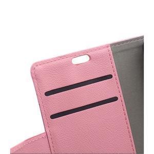 Grain koženkové puzdro pre Sony Xperia X - ružové - 7