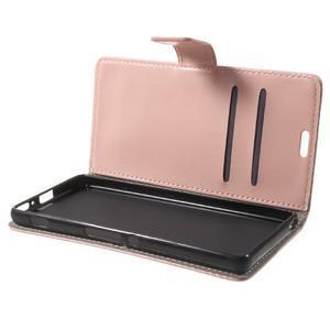 Horse PU kožené puzdro pre mobil Sony Xperia XA - ružové - 7