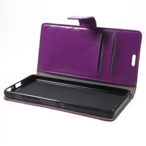 Horse PU kožené pouzdro na mobil Sony Xperia XA - fialové - 7