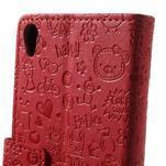 Cartoo Peňaženkové puzdro pre mobil Sony Xperia XA - červené - 7/7