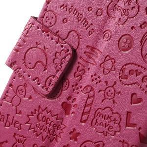 Cartoo peněženkové pouzdro na mobil Sony Xperia XA - rose - 7