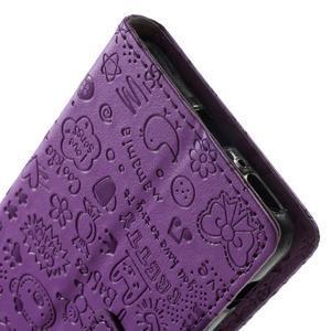 Cartoo Peňaženkové puzdro pre mobil Sony Xperia XA - fialové - 7