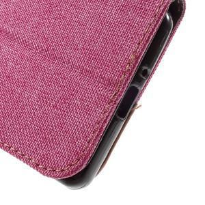 Denim textilní/koženkové pouzdro na Sony Xperia XA - světlemodré - 7
