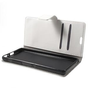 Horse PU kožené puzdro pre mobil Sony Xperia XA - biele - 7