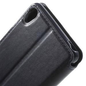 Royal PU kožené puzdro s okienkom na Sony Xperia XA - tmavomodré - 7