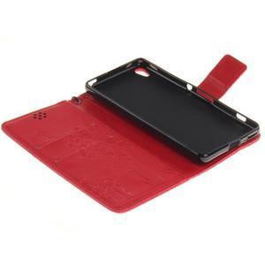 Dandely PU kožené pouzdro na mobil Sony Xperia XA - červené - 7