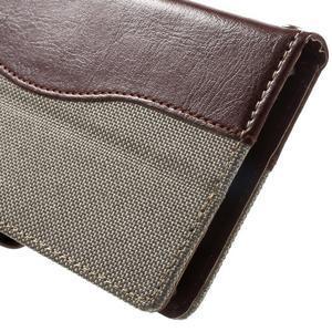 Jeansy PU kožené/textilné puzdro pre Sony Xperia XA - sivé - 7