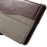 Jeansy PU kožené/textilné puzdro pre Sony Xperia XA - sivé - 7/7