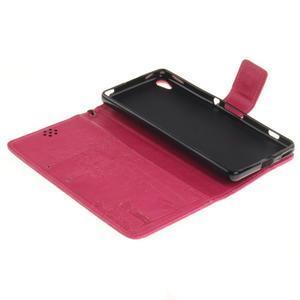 Dandely PU kožené puzdro pre mobil Sony Xperia XA - rose - 7