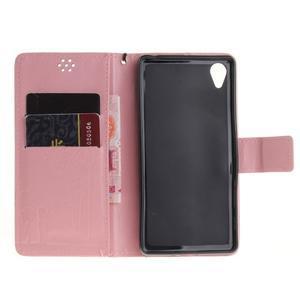 Dandely PU kožené pouzdro na mobil Sony Xperia XA - růžové - 7