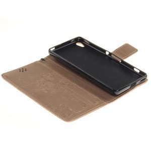 Dandely PU kožené pouzdro na mobil Sony Xperia XA - zlaté - 7