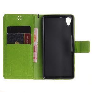 Dandely PU kožené puzdro pre mobil Sony Xperia XA - zelené - 7
