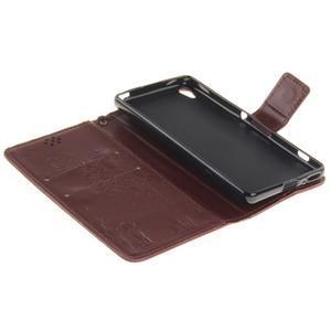 Dandely PU kožené puzdro pre mobil Sony Xperia XA - hnedé - 7