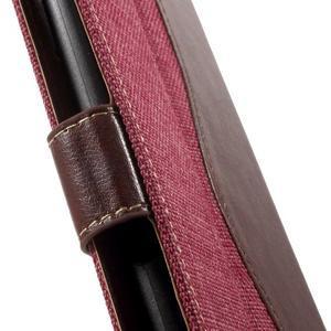 Jeansy PU kožené/textilné puzdro pre Sony Xperia XA - rose - 7