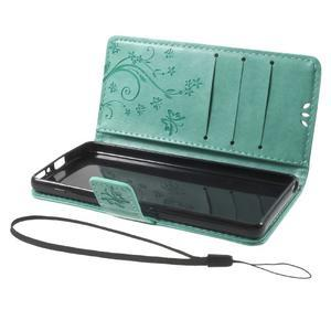 Butterfly pouzdro na mobil Sony Xperia XA - cyan - 7