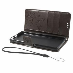 Butterfly puzdro pre mobil Sony Xperia XA - coffee - 7