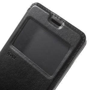 Royal PU kožené puzdro s okienkom na Sony Xperia XA - čierne - 7