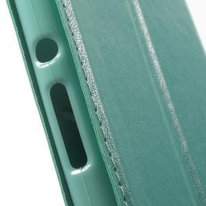 Royal PU kožené puzdro s okienkom na Sony Xperia XA - azurové - 7