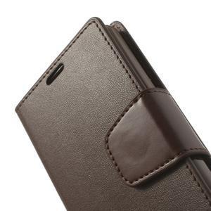 Sonata PU kožené puzdro pre mobil Sony Xperia Z1 Compact - coffee - 7