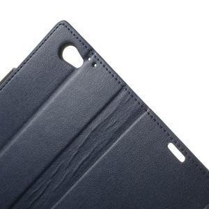 Sonata PU kožené puzdro pre mobil Sony Xperia Z1 Compact - tmavomodré - 7