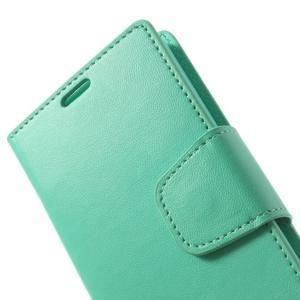 Sonata PU kožené puzdro pre mobil Sony Xperia Z1 Compact - azurové - 7