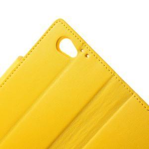 Sonata PU kožené puzdro pre mobil Sony Xperia Z1 Compact - žlté - 7