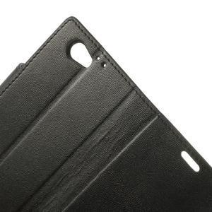 Sonata PU kožené puzdro pre mobil Sony Xperia Z1 Compact - čierne - 7