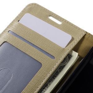 Clothy PU kožené puzdro pre Sony Xperia Z1 Compact - champagne - 7
