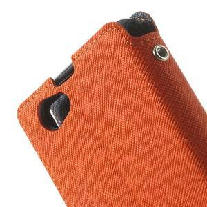 Okýnkové puzdro pre mobil Sony Xperia Z1 Compact - oranžové - 7