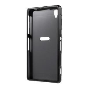 Kovový kryt s plastovými chrbtom na Sony Xperia Z1 - čierny - 7