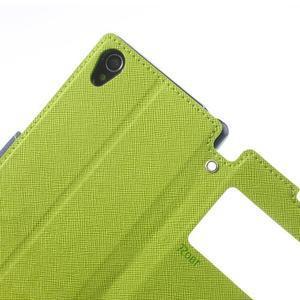 Okýnkové pouzdro na mobil Sony Xperia Z1 - zelené - 7