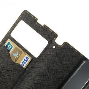 Okýnkové pouzdro na mobil Sony Xperia Z1 - žluté - 7
