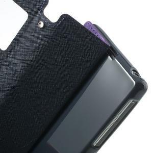 Okýnkové pouzdro na mobil Sony Xperia Z1 - fialové - 7