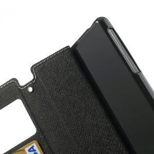 Okýnkové puzdro pre mobil Sony Xperia Z1 - biele - 7