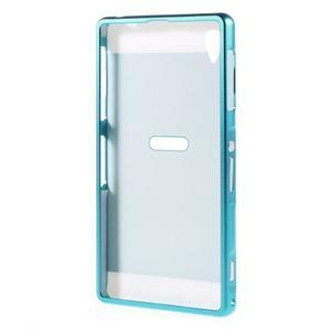Kovový kryt s plastovým chrbtom na Sony Xperia Z1 - modrý - 7