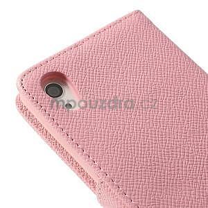 Štýlové Peňaženkové puzdro pre Sony Xperia Z2 - ružové - 7