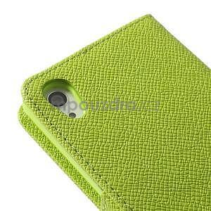 Stylové peněženkové pouzdro na Sony Xperia Z2 - zelené - 7