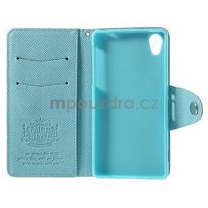 Štýlové Peňaženkové puzdro pre Sony Xperia Z2 - svetle modré - 7