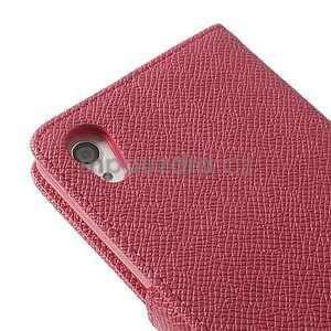 Štýlové Peňaženkové puzdro pre Sony Xperia Z2 - rose - 7