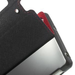 Okýnkové puzdro pre mobil Sony Xperia Z2 - červené - 7