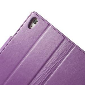 Sonata PU kožené puzdro pre mobil Sony Xperia Z2 - fialové - 7