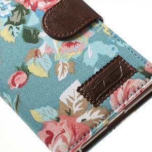 Květinové pouzdro na mobil Sony Xperia Z2 - modré - 7