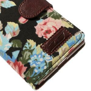 kvetinové puzdro pre mobil Sony Xperia Z2 - čierne - 7