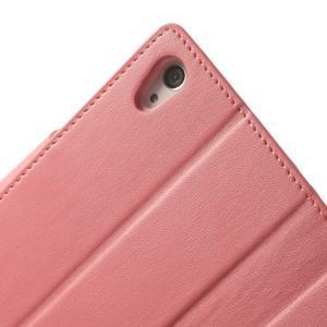 Sonata PU kožené puzdro pre mobil Sony Xperia Z2 - ružové - 7
