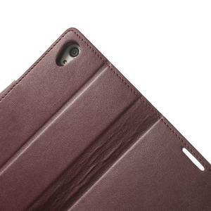 Sonata PU kožené puzdro pre mobil Sony Xperia Z2 - vínovej - 7