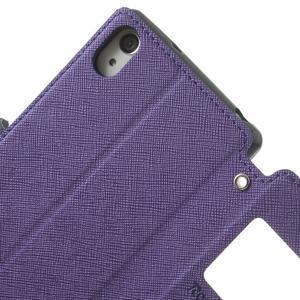 Okýnkové puzdro pre mobil Sony Xperia Z2 - fialové - 7