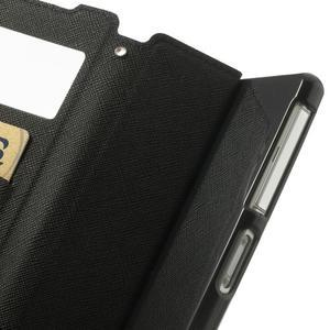 Okýnkové puzdro pre mobil Sony Xperia Z2 - tmavomodré - 7