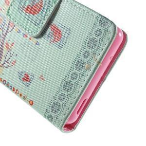 Pictu Peňaženkové puzdro pre Sony Xperia Z3 Compact - vtáčik v kleci - 7